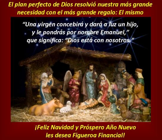 Figueroa Financial Christmas Card Spanish