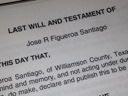Last Will, Testatment