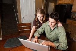 Couple Working on their Finances together.