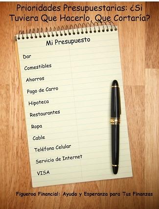 Prioridades Presupuestarias: ¿Que Cortaria?