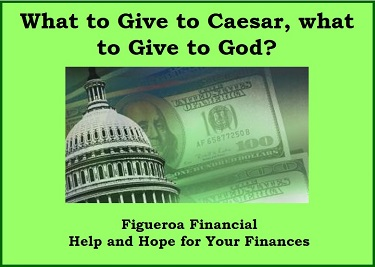 What to Give to Caesar, what to Give to God?